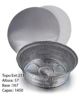 Formas Aluminio (6314b/1420) + Tampas (800 unid)
