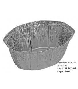 Formas Aluminio Oval+Tampas (Ref.2600) pak/25 un