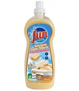 FUN Detergente Roupa Sabao Natural 1.5 Litros cx/8