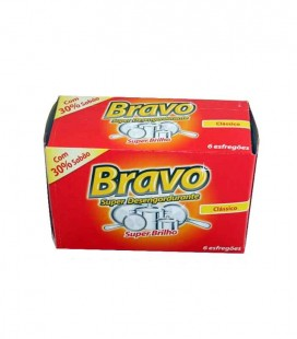 Esfregao Bravo c/ Sabao pak/ 20 x 6 un cx /60