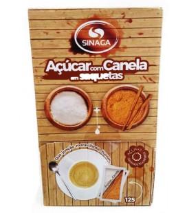 Acucar Sinaga c/ canela Saquetas cx/125un