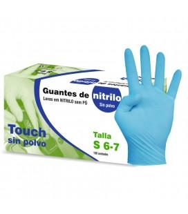 Luvas Nitrilo Azul Tamanho S s/po 100 un