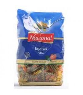Massa Nacional Espiral Tricolor Vegetais 500 cx/20