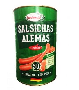 Salsicha Ferbar Fumada s/pele Lata 50 un cx/4 Lata