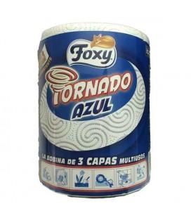 Papel Cozinha Foxy Tornado Azul cx/6