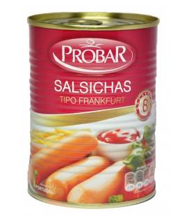 Salsicha PROBAR Tipo Frankfurt 4 Pares 350gr cx/12