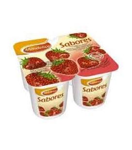 Iogurte Mondelice Morango 125gr 4 un cx/6 Pack