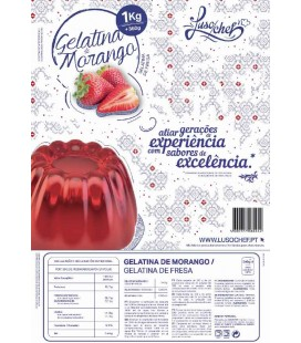 Preparado Gelatina Morango Lusochef 1Kg cx/10