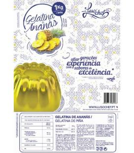 Preparado Gelatina Ananas Lusochef 1Kg cx/10