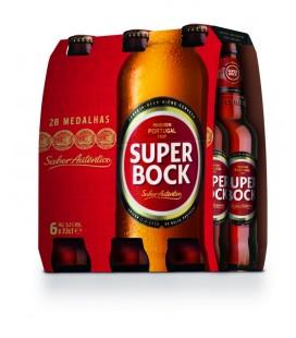 Super Bock Cerveja 0.33 Garrafa Branca TP cx/ 24