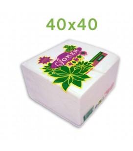 Guardanapos Joker Tipo Tecido Branco 40x40 cx/24