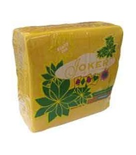 Guardanapos Joker Tipo Tecido Amarelo 40x40 cx/24