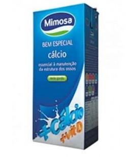 Leite Mimosa Calcio Meio Gordo 1 Litro Cx/6
