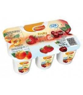 Iogurte Mondelice Pedacos 0,2% 125gr 4 un cx/6 Pk